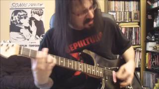 Sepultura - escape to the void - guitar cover - full HD