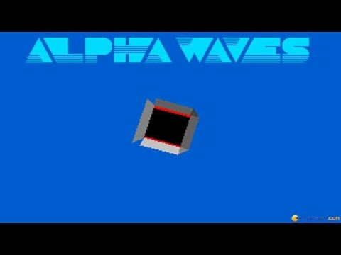 Alpha Waves gameplay (PC Game, 1990)