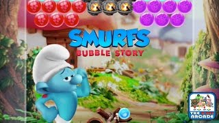 Smurfs Bubble Story - Saving Hefty & Handy Smurf from Gargamel (iOS/iPad Gameplay)