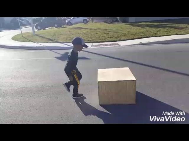 CJ Mercer age 6 jumps a 28inch plyo box