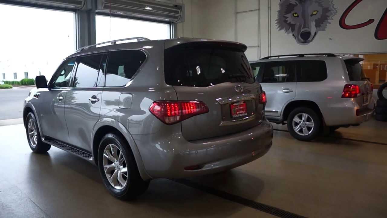 2017 Toyota Landcruiser Vs Infiniti Qx 560 Short Video With Parking Lights On
