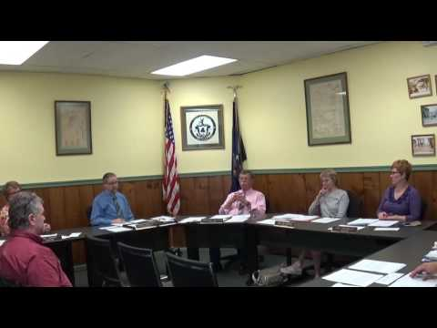Champlain Village Board Meeting  5-8-16
