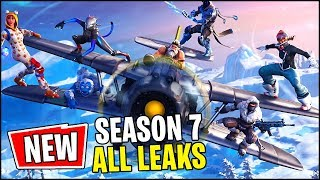 *FINAL* Fortnite Season 7 LEAKS -- *ALL* Skins, Planes, Map, Wraps and Battle Pass