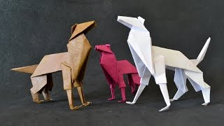 Origami: Cachorro / Shepherd Dog