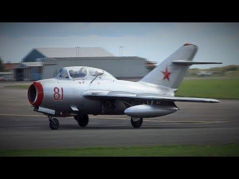 NAHS - Mikoyan-Gurevich MiG-15UTI Approach & Landing @ Blackpool Airport 16/9/2017