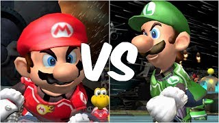 Mario Strikers Charged - Mario vs Luigi - Wii Gameplay (720p60fps)