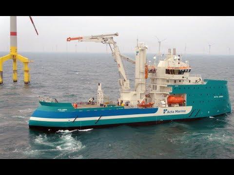 Offshore wind vessel Acta Auriga at work