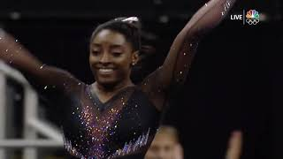 Simone Biles - Floor Exercise – 2019 U.S. Gymnastics Championships – Senior Women Day 2 NBC