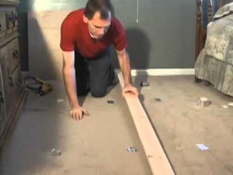 How To Stop Floor Squeaks Thru Carpet Youtube