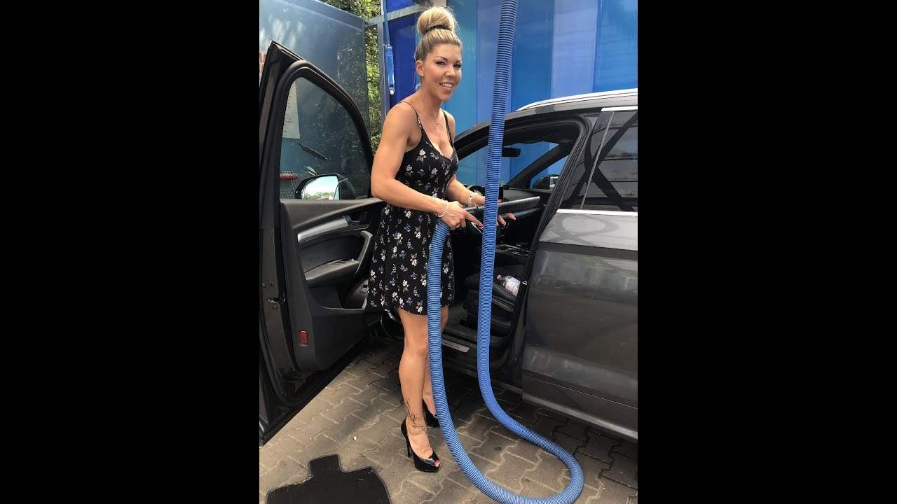 Carwash in high heels