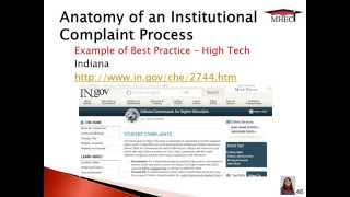 Helping Prospective SARA Institutions Tighten Up their Complaint Process Thumbnail