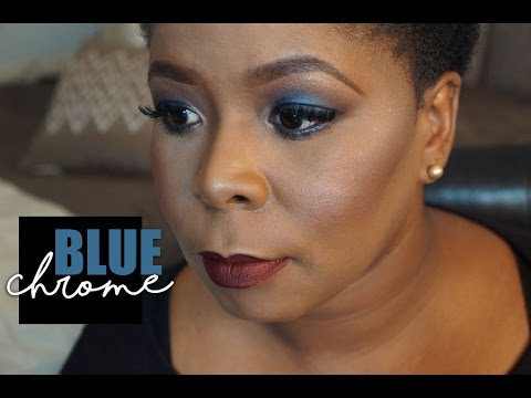 Client Makeup  Blue Chrome Eyeshadow with Unicorn Blood lips  MakeupMesha