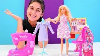 Barbie için terzi Ayşe yeni elbise dikiyor. Keyif okulu. Çocuk videosu
