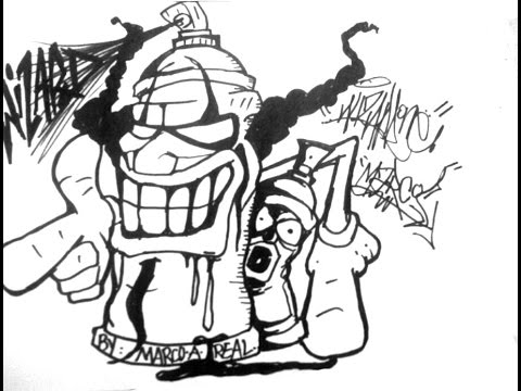 how to Draw a Clown Spray Can Crazy Cool - YouTube