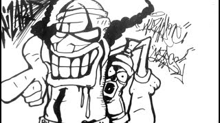 how to Draw a Clown Spray Can Crazy Cool