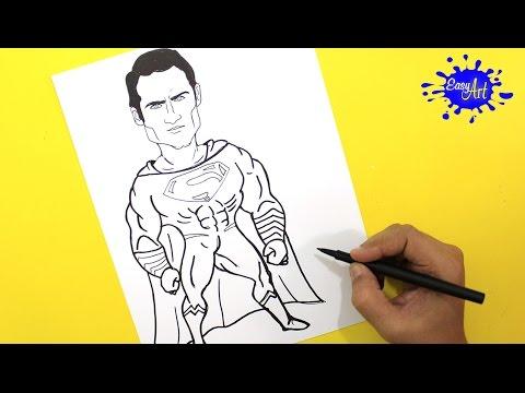 How to Draw Superman  (Batman vs superman) / Como dibujar a superman