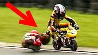 Minibikes & Kart Crashes During British Championships