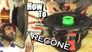 How To Recone a Subwoofer w/ NVX Audio VCW Subwoofers | EXO's 12
