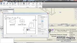 3D pressure vessel design software, Drawings GA and Saddles
