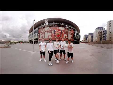 360° Football Challenge at Emirates Stadium (Arsenal London) 4K