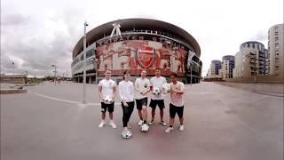 360° Football Challenge at Emirates Stadium (Arsenal London) 4K