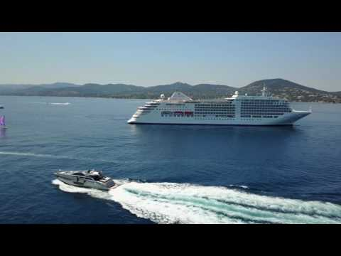 Silver Muse in St Tropez on 17th June captured in 4K with a DJI Mavic Pro
