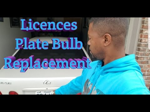 How to-Licences Plate bulb  Replacement 98 05 Lexus GS300
