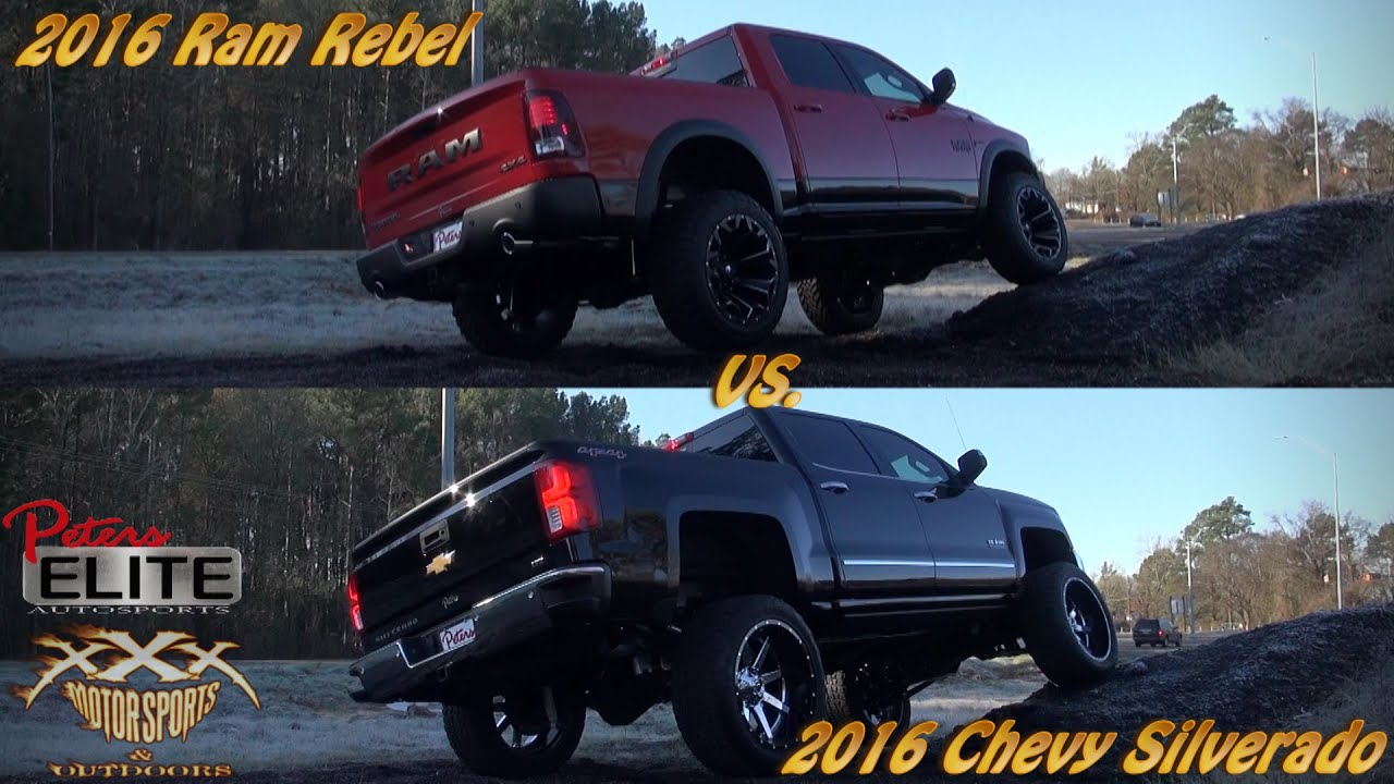 2016 SILVERADO vs. 2016 REBEL RAM 4X4!! - YouTube