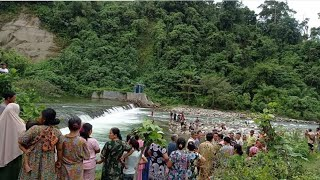 Masyarakat Hebo.! orang hanyut di jembatan bendungan Rantau Panjang seluma.