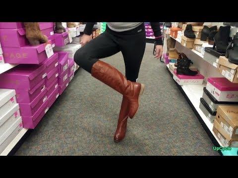 Shoe shopping with Nikki, Shoe Show, boots