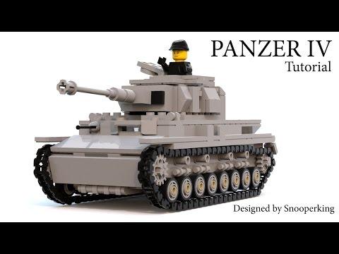Lego WW2 German Army Panzer IV Tank Tutorial - Warthunder Великая отечественная война Instructions