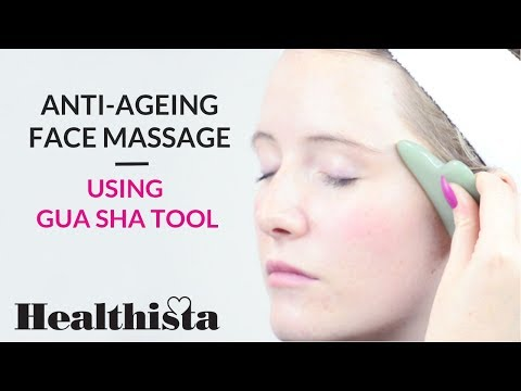 Anti-Ageing Massage using Gua Sha Tool | Zone Face Lift