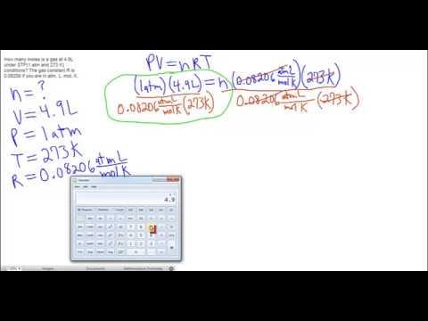 Standard Temperature and Pressure (STP) Example 1