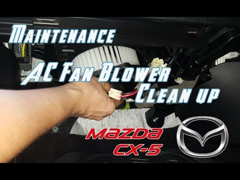 How to clean AC Fan Blower || Mazda CX 5 CX 3 Mazda 3 Mazda 6 Mazda 2