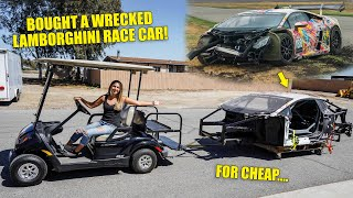 I Bought A Badly Wrecked Lamborghini Race Car and I'm going to Rebuild It!