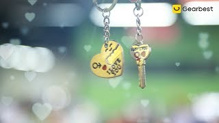 Creative I Love You Pattern Keychain for Lovers 2pcs - Gearbest.com