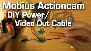 How to Build a Mobius Actioncam Power Cable with Video Out