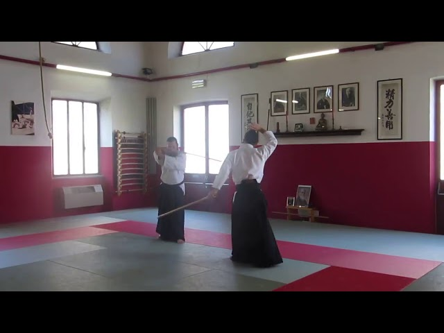 Francesco Corallini Sensei performing henka no tachi from the first kumi tachi
