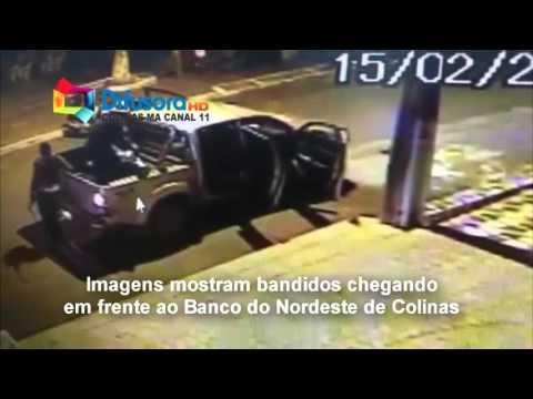 MOMENTO EM QUE ASSALTANTES CHEGAM A COLINAS - ASSALTO AO BANCO DO BRASIL DE COLINAS - MA