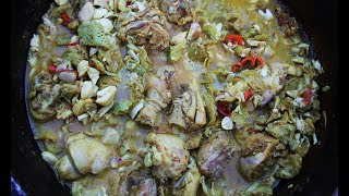 Curry Chataigne (breadnut / katahar) With Chicken   CaribbeanPot.com