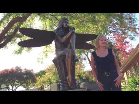 """The Guardian"" is installed in downtown Los Altos"