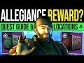 Destiny 2 | ALLEGIANCE QUEST REWARDS! Full Quest Guide, EDZ Tape Locations & Loyalty Packages!
