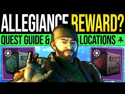 Destiny 2 | ALLEGIANCE QUEST REWARDS! Full Quest Guide, EDZ Tape Locations & Loyalty Packages! thumbnail