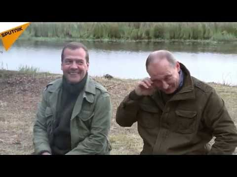 Putin and Medvedev Spend Weekend With Fishermen