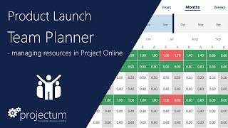 Team Planner | Manage your resources in Project Online | Demo