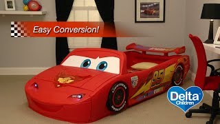 Disney Pixar Cars Convertible Toddler-to-twin Bed With Lights And Toy Box