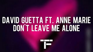 [TRADUCTION FRANÇAISE] David Guetta ft. Anne-Marie - Don't Leave Me Alone