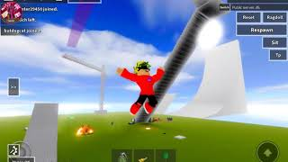 Playing 2 games with ragdoll physics. (Roblox) [r15 ragdoll and ragdoll engine]