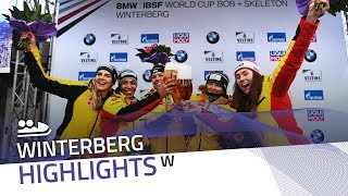 Germany swept the podium in the 2-woman bobsleigh | IBSF Official