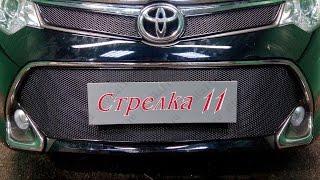 Защита радиатора PREMIUM TOYOTA CAMRY VII (XV50) рестайлинг 2015-н.в. (Черный) - strelka11.ru
